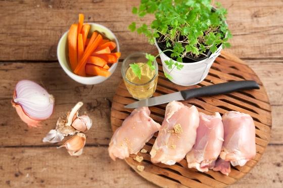16 Contramuslos pollo en salsa ingredientes